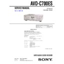 Sony AVD-C700ES Service Manual