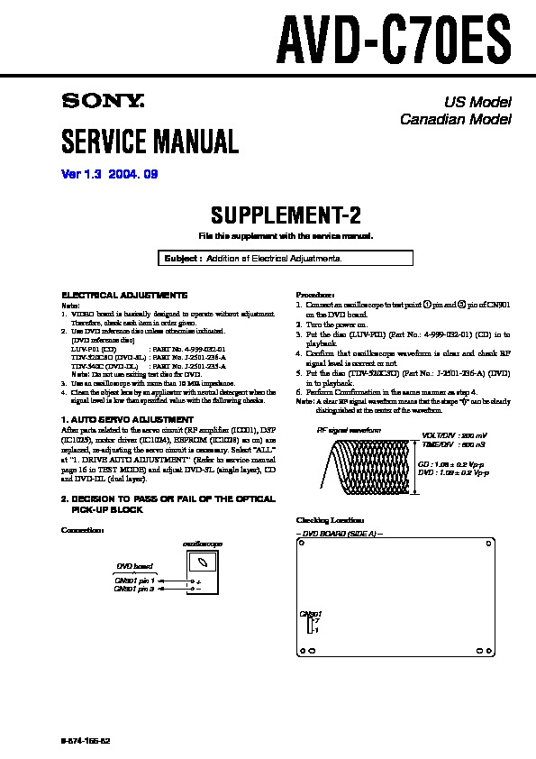sony dvd service manuals and schematics repair information for rh servlib com