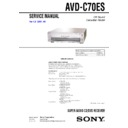 Sony AVD-C70ES Service Manual