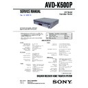 Sony AVD-K600P Service Manual