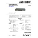 Sony AVD-K700P, HT-V700DP Service Manual