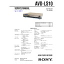 Sony AVD-LS10 Service Manual