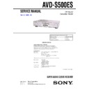 Sony AVD-S500ES Service Manual