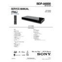 Sony BDP-A6000 Service Manual