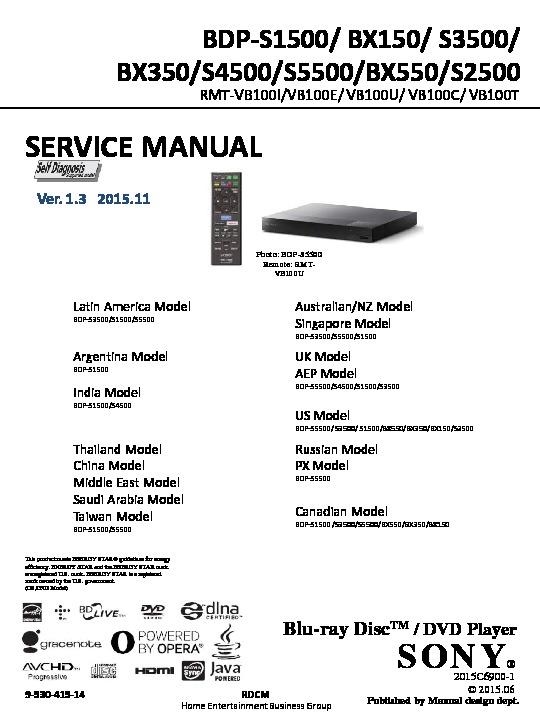 sony dvd service manuals page 2 rh servlib com BDP-S360 Firmware Update Sony BDP-S360 Blu-ray