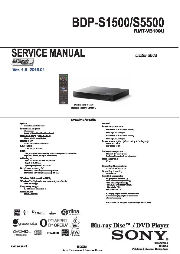sony bdp s1500 bdp s5500 service manual view online or download rh servlib com samsung gt s6500 service manual sony bdp-s6500 service manual