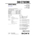 Sony DAV-C770, DAV-C990 Service Manual