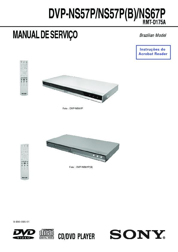 sony dvp ns57p dvp ns67p service manual view online or download rh servlib com Sony DVP Ns57p Specs Sony DVP Ns57p DVD Player