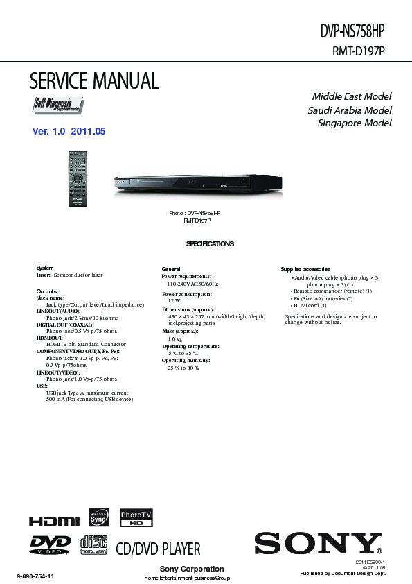 sony dvp ns758hp service manual view online or download repair manual rh servlib com sony dvd manuals online sony dvd player manual