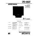 Sony CPD-100GST Service Manual