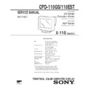 Sony CPD-110EST, CPD-110GS Service Manual