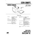 Sony GDM-2000TC Service Manual