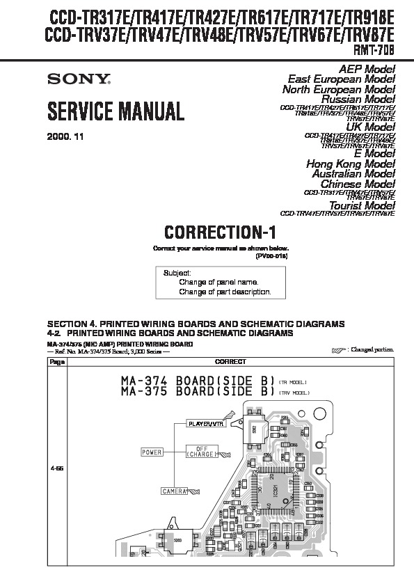 sony ccd wiring diagram