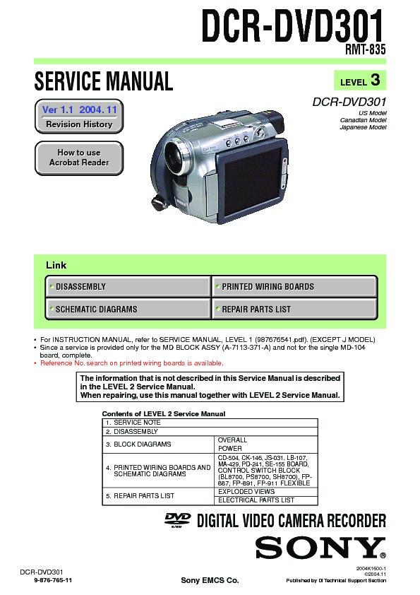 sony dcr dvd301 service manual view online or download repair manual rh servlib com f&p e402b service manual f&p mr850 service manual