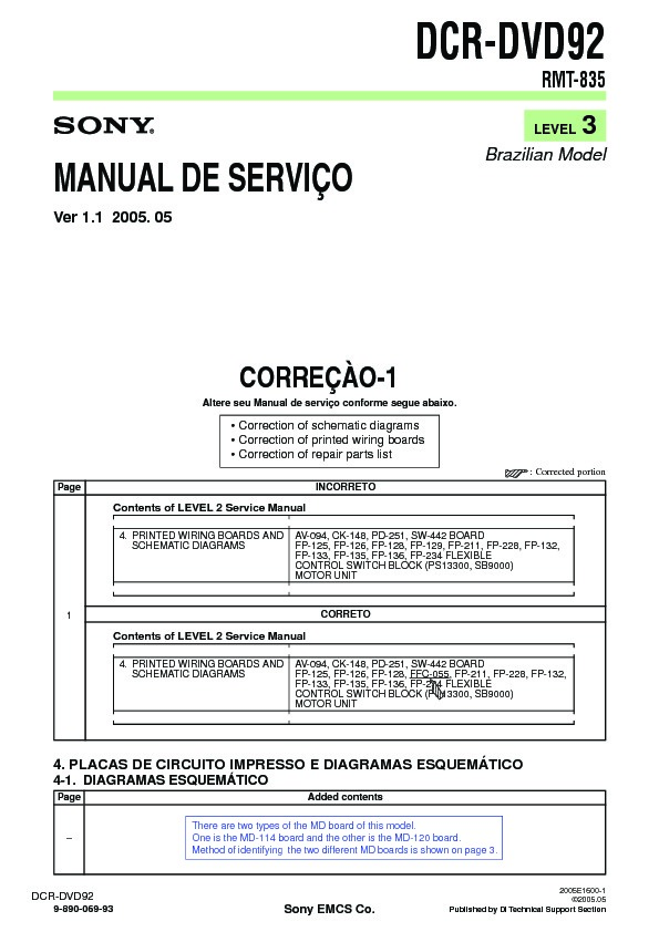 sony dcr dvd92 serv man5 service manual view online or download