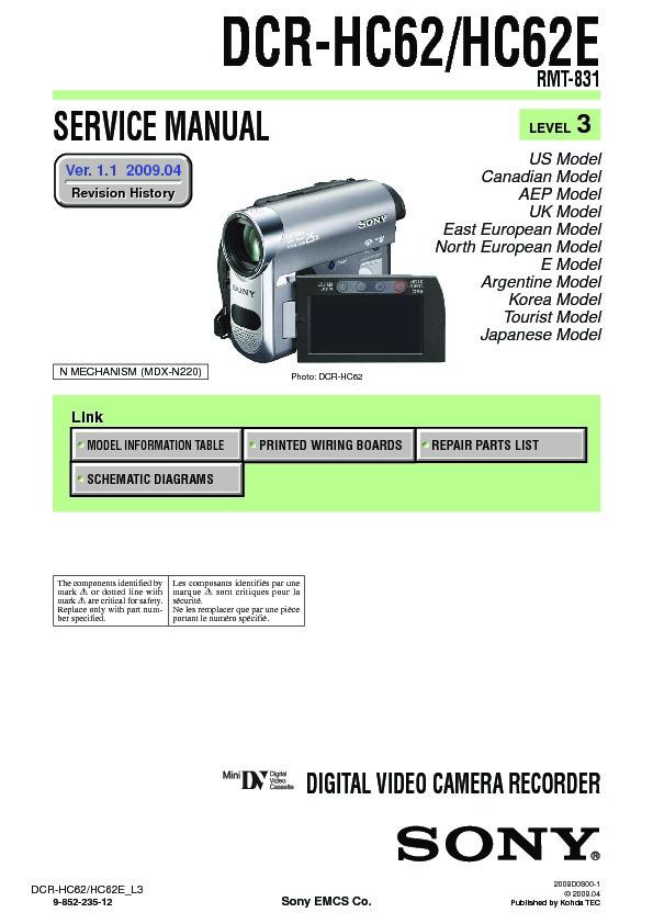 sony dcr hc62 dcr hc62e service manual view online or download rh servlib com sony handycam dcr-hc62 driver sony dcr-hc62 driver