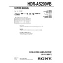 Sony HDR-AS200VB Service Manual