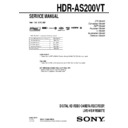 Sony HDR-AS200VT Service Manual