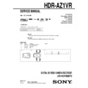 Sony Hdr Az1 Service Manual View Online Or Download Repair Manual