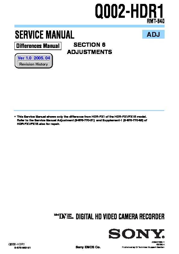 Sony hdr fx1e manual.