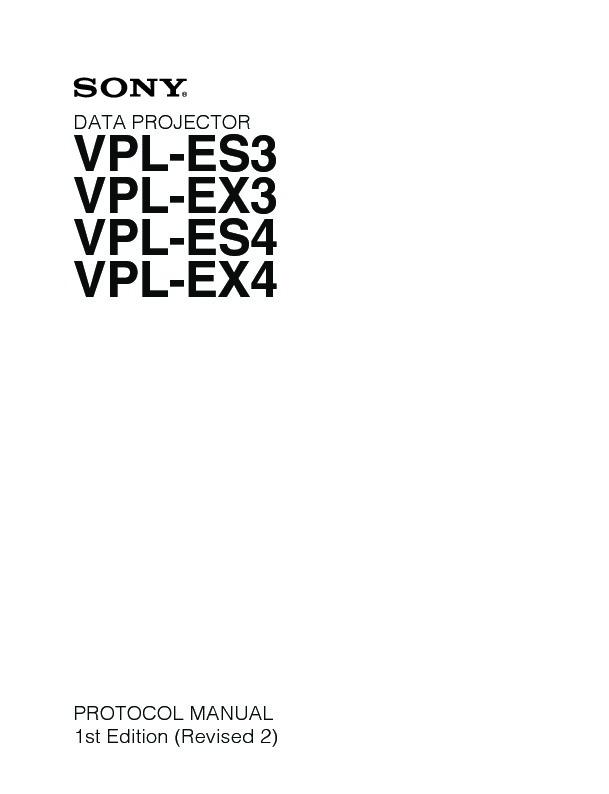 sony vpl es3 vpl es4 vpl ex3 vpl ex4 service manual view online rh servlib com sony vpl ex3 service manual sony 3lcd vpl-ex3 projector manual