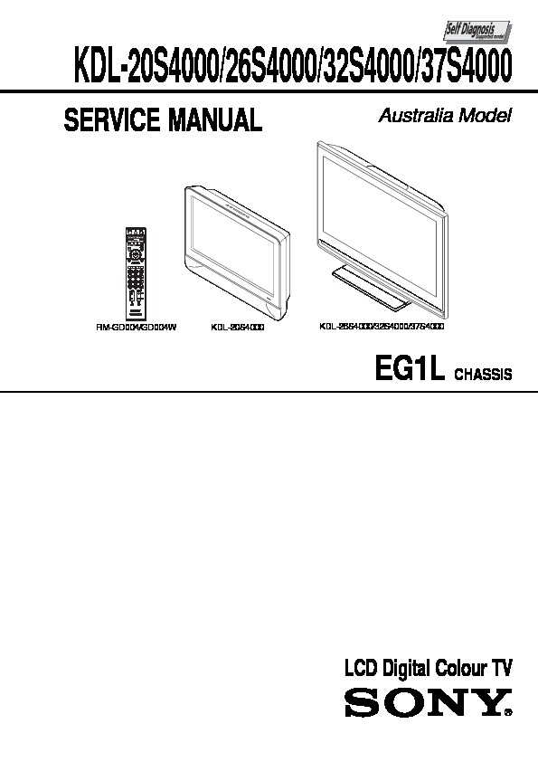 sony kdl 20s4000 kdl 26s4000 kdl 32s4000 kdl 37s4000 service rh servlib com Sony KLV sony kdl 32v4000 manual