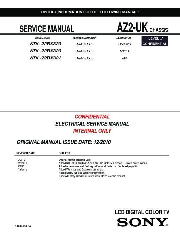sony kdl 22bx320 service manual view online or download repair manual rh servlib com