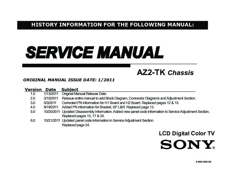 sony tv service manuals page 8 rh servlib com sony tv kdl32bx300 manual sony bravia kdl-32bx300 instruction manual
