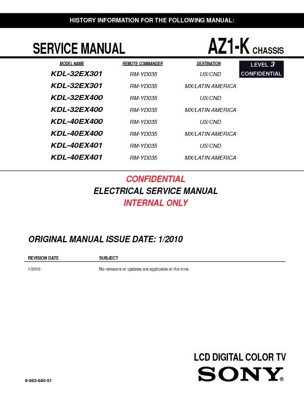 sony kdl 32ex301 kdl 32ex400 kdl 40ex400 kdl 40ex401 serv man2 rh servlib com sony kdl-40ex400 service manual sony 40ex400 manual