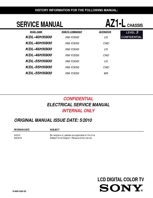 sony kdl 40hx800 kdl 46hx800 kdl 55hx800 serv man2 service rh servlib com sony bravia kdl-55hx800 service manual Sony KDL 55HX800 Problems
