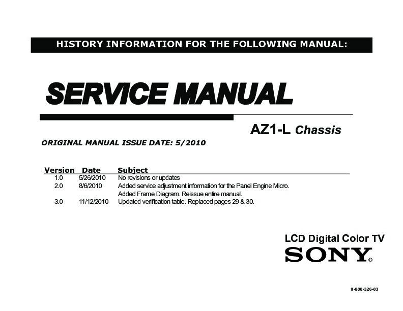 Sony Kdl 40hx800 Kdl 46hx800 Kdl 55hx800 Service Manual View Online Or Download Repair Manual
