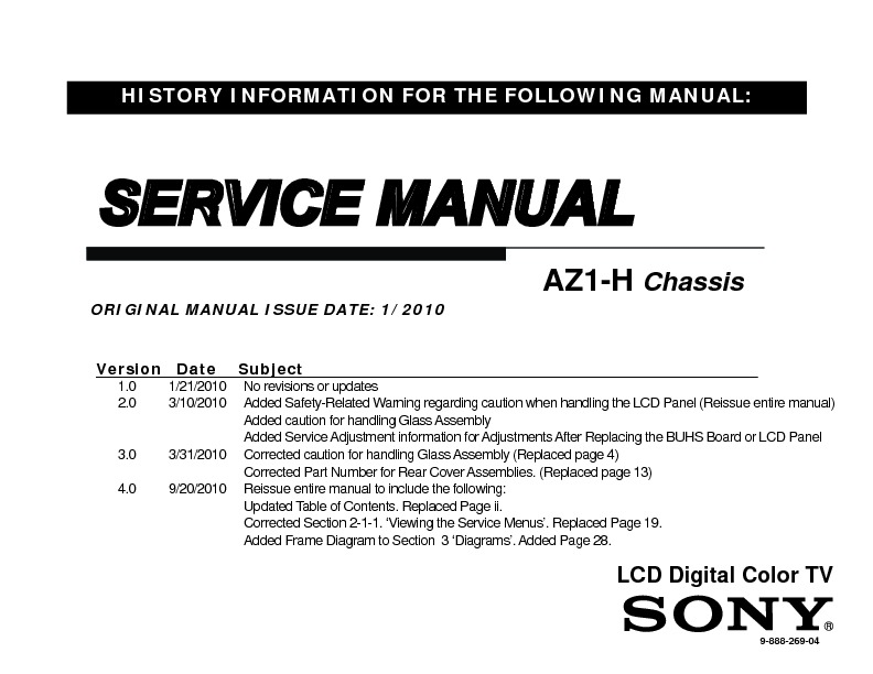 sony kdl 40nx700 kdl 46nx700 service manual view online or rh servlib com sony bravia service manual sony lcd panels service manual