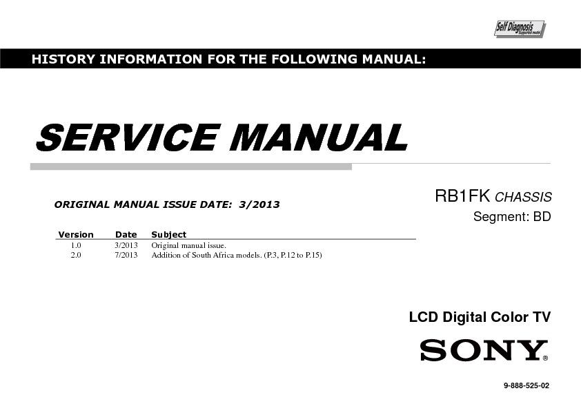 Kdl 52xbr9 service manual