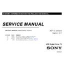 Sony KDL-46HX900, KDL-52HX900 Service Manual
