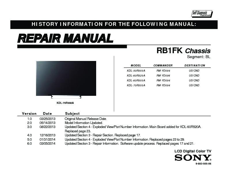 Remote Control For Sony KDL-60R550A KDL-70R520A KDL-70R550A KDL-50R555A LED TV