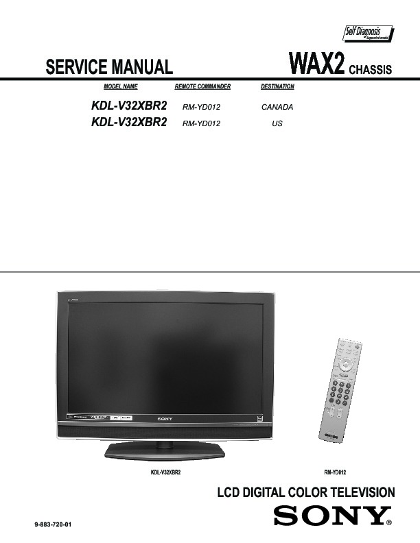 sony kdl v32xbr2 manual daily instruction manual guides u2022 rh testingwordpress co Sony BRAVIA Back Panel Sony BRAVIA 32 Inch HDTV