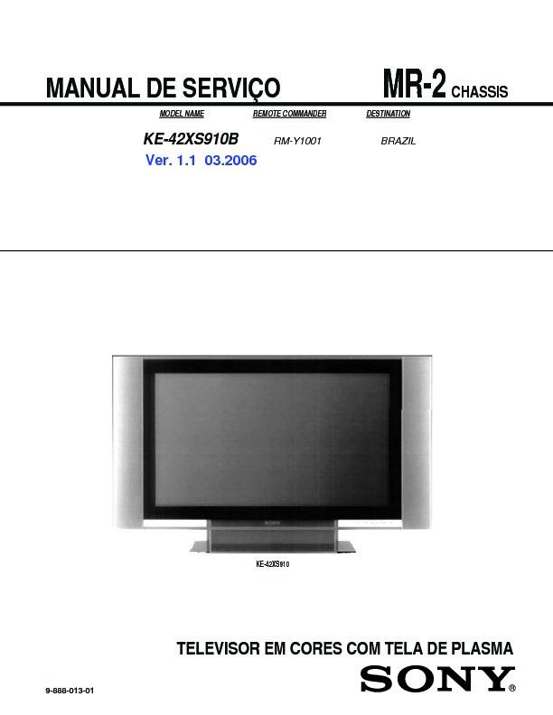 sony ke 42xs910b service manual view online or download repair manual rh servlib com Service Station Parts Manual