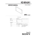 ke-mx42k1 service manual