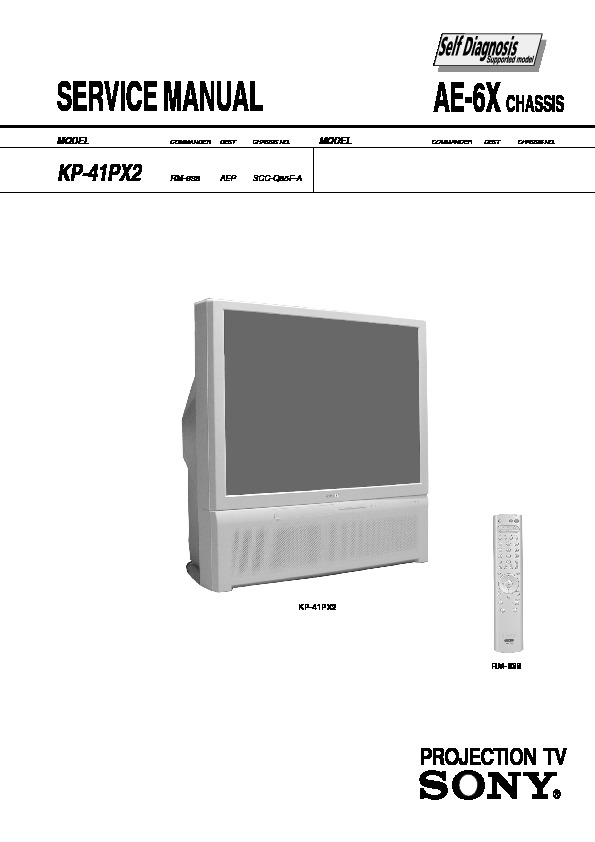sony kp 41px2 service manual view online or download repair manual rh servlib com sony 55 inch projection tv manual sony sxrd rear projection tv manual