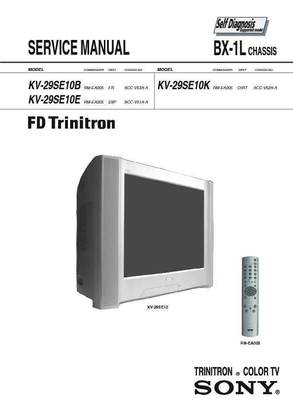 sony kv 35v36 kv 35v76 kv 37v36m trinitron color tv service manual