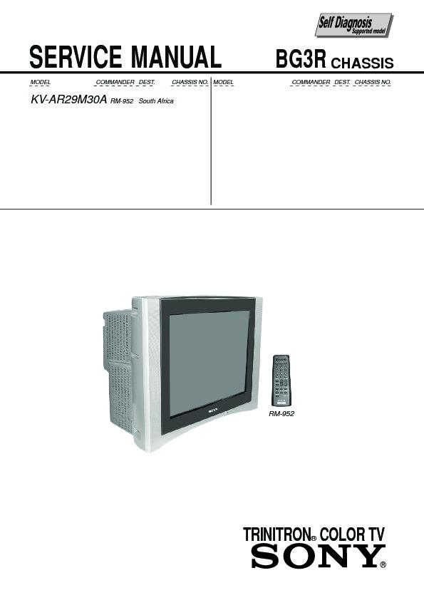 sony kv ar29m30a service manual view online or download repair manual rh servlib com sony trinitron user manual sony trinitron tv manual free