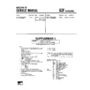 Sony KV-F25MF1 (serv.man3) Service Manual