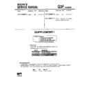 Sony KV-F25MF1J (serv.man2) Service Manual