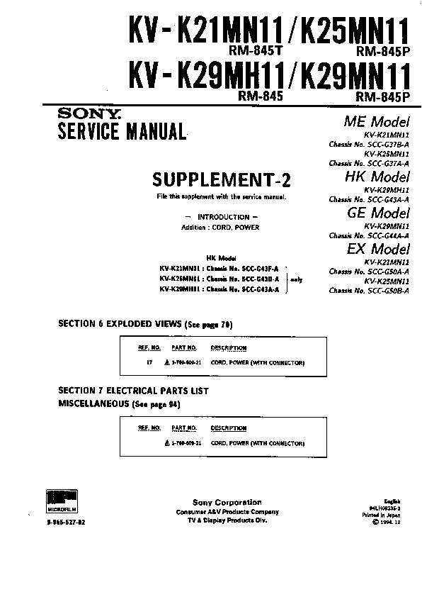 sony kv k21mn11 serv man11 service manual view online or rh servlib com Service Station Repair Manuals