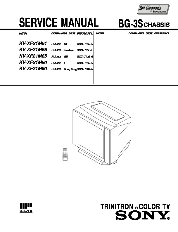 sony kv xf21m30 service manual view online or download repair manual rh servlib com Trinitron White Sony Trinitron Television