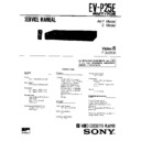Sony EV-P25E (serv.man2) Service Manual