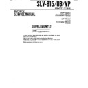 slv-815, slv-815ub, slv-815vp (serv.man4) service manual
