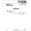 Sony SLV-815NC (serv.man2) Service Manual