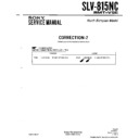 Sony SLV-815NC (serv.man3) Service Manual