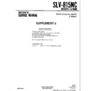 Sony SLV-815NC Service Manual
